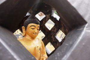 Patung Buddha Tidur di Bogor, Patung Buddha di dalam stupa