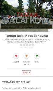 taman bunga di Bandung, Taman Balai Kota Bandung di aplikasi Cari Aja