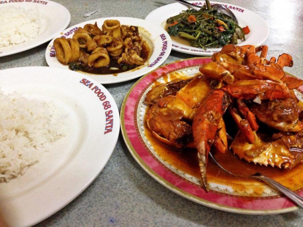 Makanan di Seafood 68 Santa jakarta, tempat makan seafood murah di Jakarta, Seputarkota.com