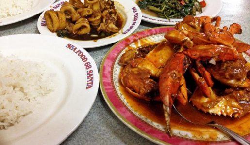 Makanan di Seafood 68 Santa jakarta, tempat makan seafood murah di Jakarta