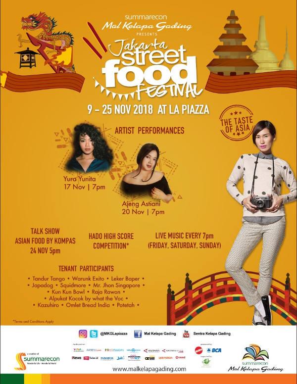 Jakarta Street Food Festival 2018 Siap Manjakan Pecinta Kuliner Asia