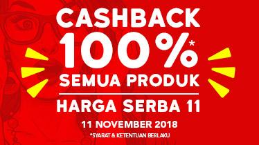 promo 11 11 Blibli, Cashback 100% & Serba 11, Seputar Kota