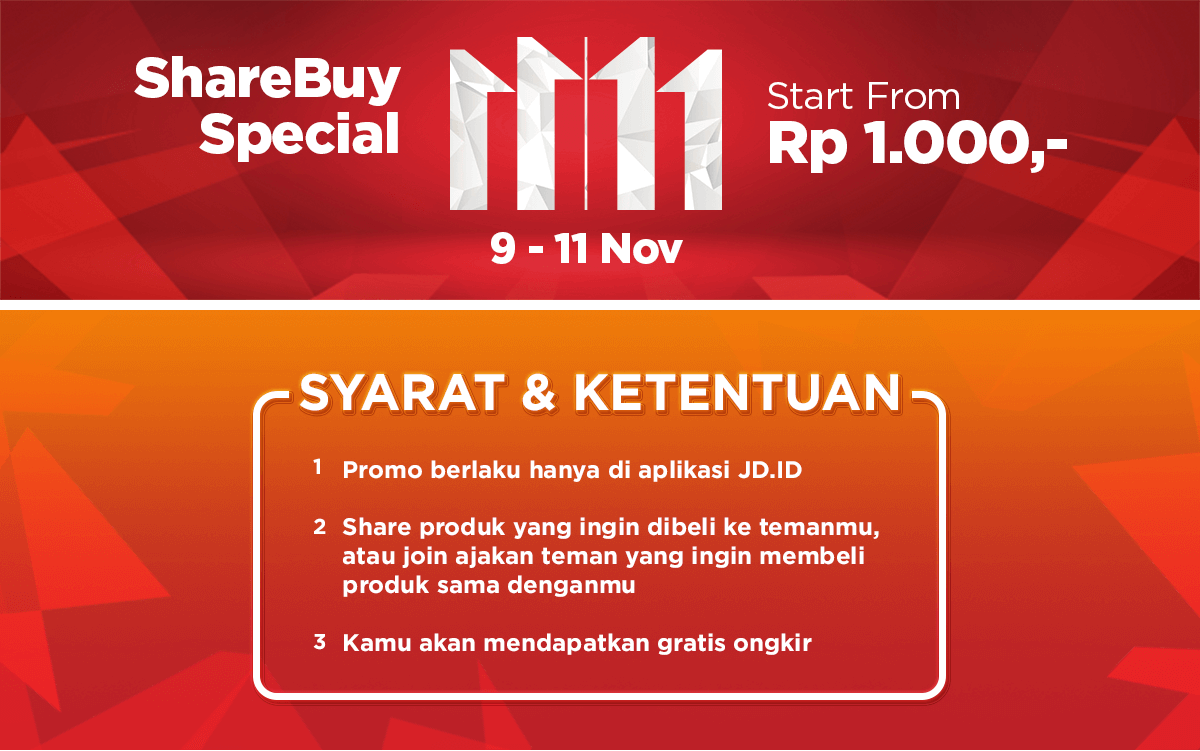 promo 11 11 JD.ID, ShareBuy Special 11 11