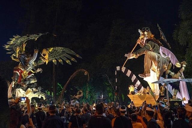 tradisi perayaan Nyepi, Upacara Tawur Kesanga, Banten, Seputar Kota