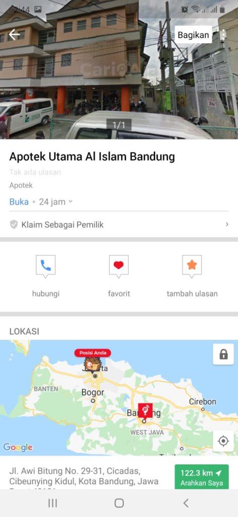apotek utama al islam bandung, apotek di bandung, seputarkota
